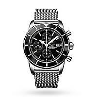 Часы Breitling SuperOcean Heritage II Chronograph 44mm Black/Silver. Реплика: AAA, фото 1