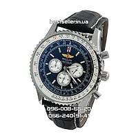Годинники Breitling Navitimer silver/black Chronometre. Репліка: AAA, фото 1