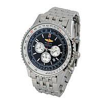 Часы Breitling Navitimer 1 Chronometre 46mm Silver/Black. Реплика: AAA, фото 1