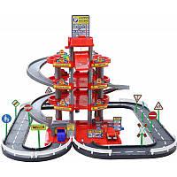 Игровой набор паркинг с дорогой Wader Auto Park,  3 машинки, автомойка, 4 уровня (44723)