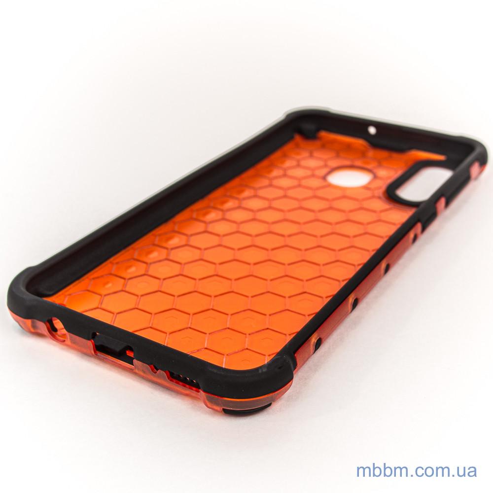 Ударопрочный чехол Transformer Honeycomb Samsung A20 A30 red