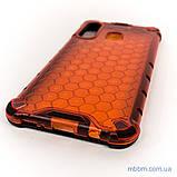 Ударопрочный чехол Transformer Honeycomb Samsung A20/A30 red, фото 6