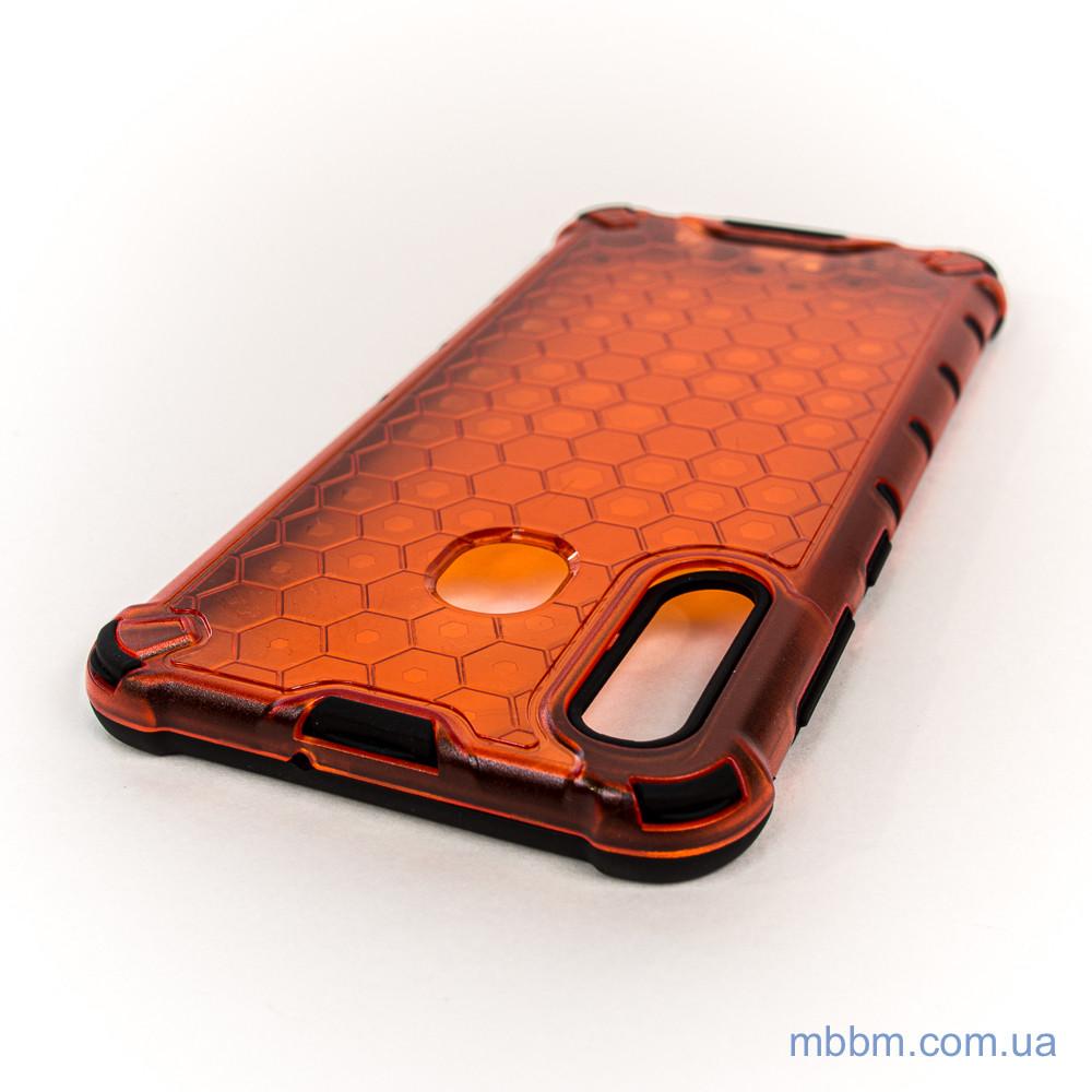 Ударопрочный чехол Transformer Honeycomb Samsung A20 A30 red Galaxy