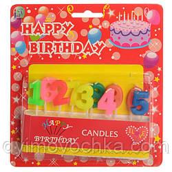 Аксесуари для свята SZ-325 свічка 10шт (цифри 0-9), 7см,на паличці