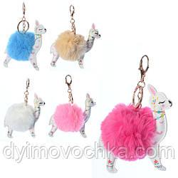 Аксессуар для сумки X15044 лама, 13,5см, помпон, 6 цветов