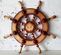 Штурвал морской деревянный, большой