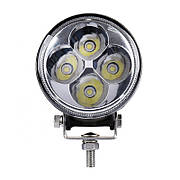 Фара дополнительная LED 12W (4x3W Epistar) круглая, 600lm, 9-32V (Flood) 950-990310002
