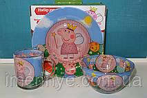 Красивый подарок детской посуды свинка пеппа