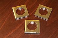 Люверсы квадратные, цвет золото