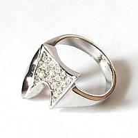Кольцо Вид родиевое отличного качества, усеянное ясными камнями