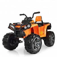 Детский квадроцикл 999 на резиновых колёсах, 4 Мотора, Пульт, оранжевый, детский электромобиль