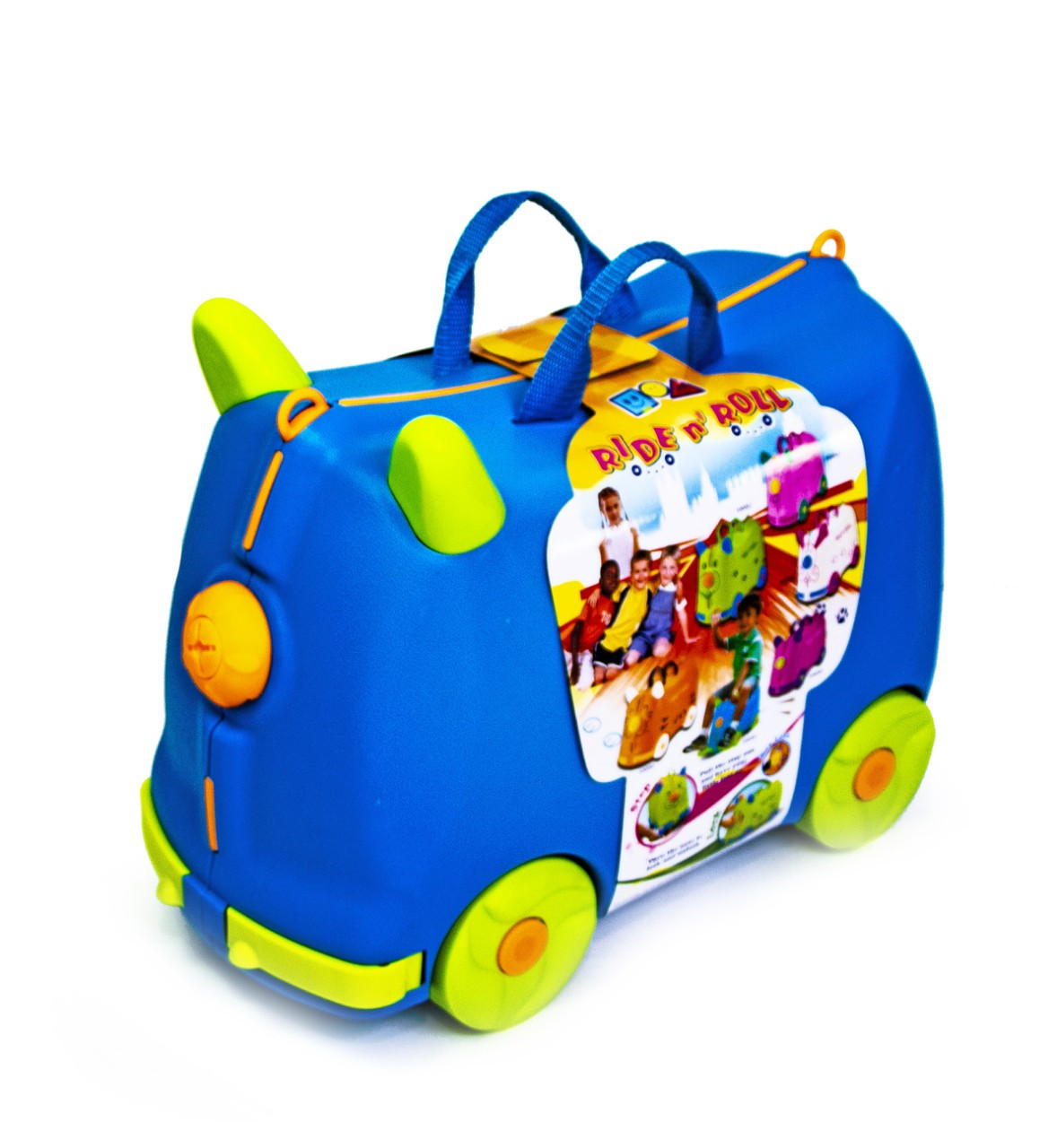 Детский чемодан-каталка 2 в 1. 2 цвета