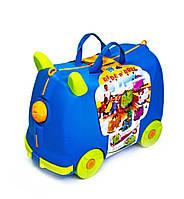 Детский чемодан-каталка 2 в 1. 2 цвета, фото 1