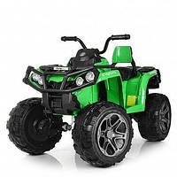 Детский квадроцикл 999 на резиновых колёсах, 4 Мотора, Пульт, зелёный, детский электромобиль