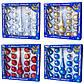 Набор елочных игрушек - шары с верхушкой, 19 шт, D5-6 см, красный, микс, стекло (390212-3), фото 4