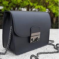 Женский кожаный клатч , сумка кожаная Черная итальянская  VERA PELLE, Италия.