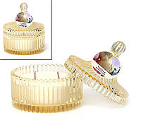 Свеча ароматизированная в стекле с крышкой (120г), аромат: ваниль BonaDi 408-045