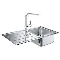 Мойка для кухни + однорычажный смеситель GROHE K-SERIES K 500 31573SD0