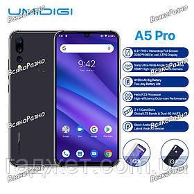 "Смартфон UMIDIGI A5 Pro Space Grey 4 / 32 Гб , Батарея 4150 мАч, 6,3"""