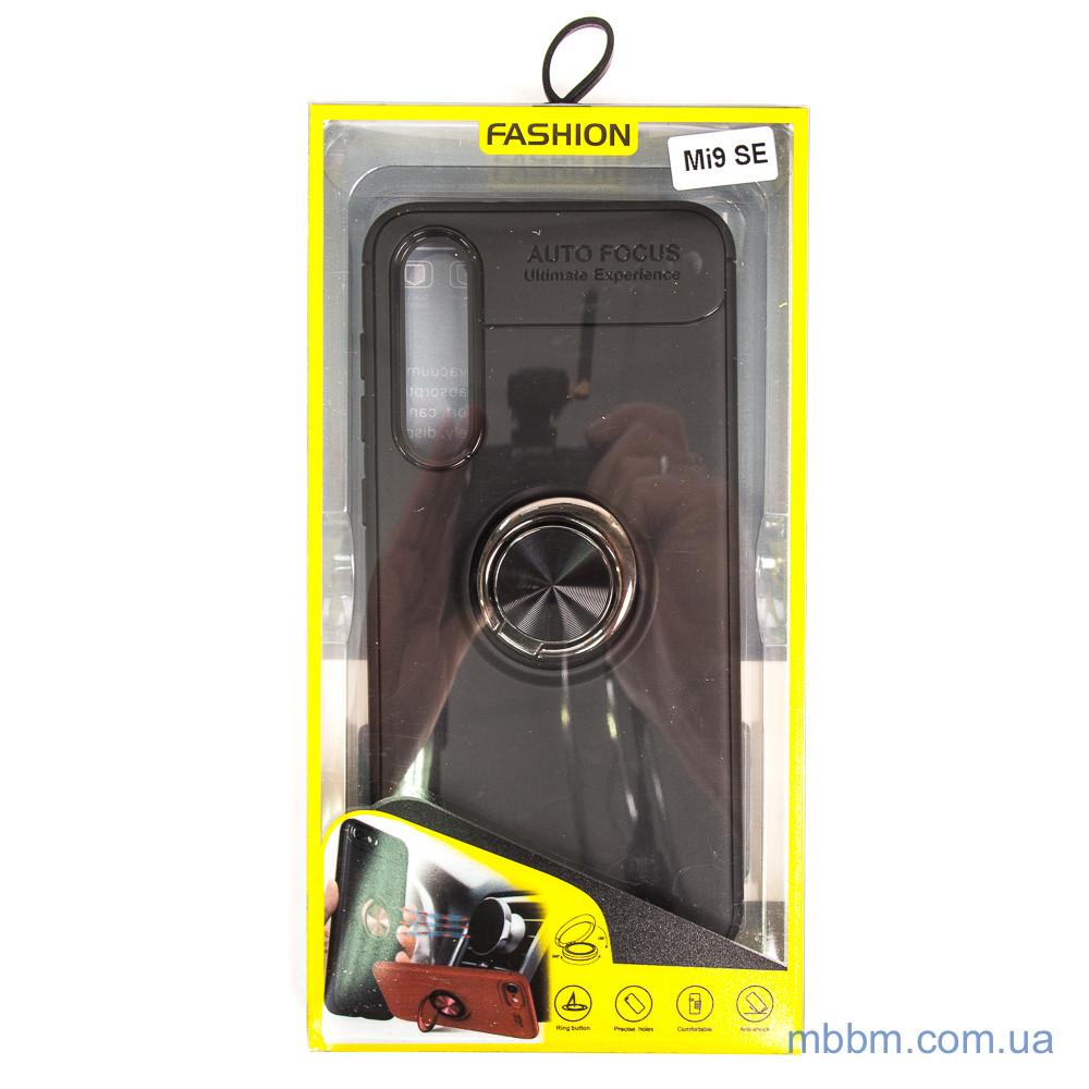 TPU Deen ColorRing с креплением под магнитный держатель Xiaomi Mi 9 SE black Черный