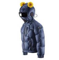 Модный пуховик куртка с очками для мальчика AI RIDERS Италия JK211K MR4 Синий 86 см