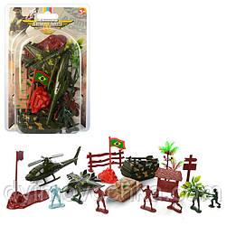 """Детский игровой набор """"Комбат"""" 6828C, военная техника, солдатики, забор, деревья"""