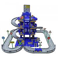 Игровой набор паркинг с дорогой Wader Auto Park, 3 машинки, автомойка, 4 уровня (44716)