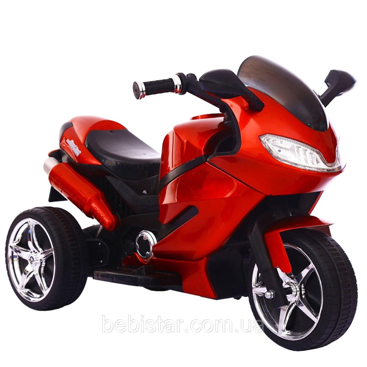 Детский электромобиль трицикл красный с пультом колеса EVA от 3-х до 5-ти мотор 2*15W аккумулятор 2*6V7AH