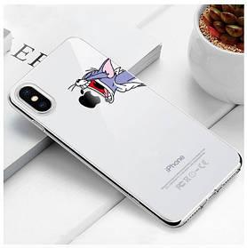 "Чехол TPU прозрачный, мягкий с изображением ""Томас"" iPhone 5/5S/SE"