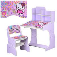 Детская парта растишка WL 2071-48-4 Hello Kitty