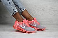 Кроссовки женские / подростковые  в стиле Nike Air Max 2017.   розовые с серым