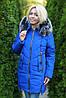 Зимняя женская куртка синяя, фото 5