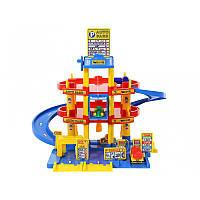 Игровой набор паркинг с дорогой Wader QT 3 уровня + 3 машинки (37893)