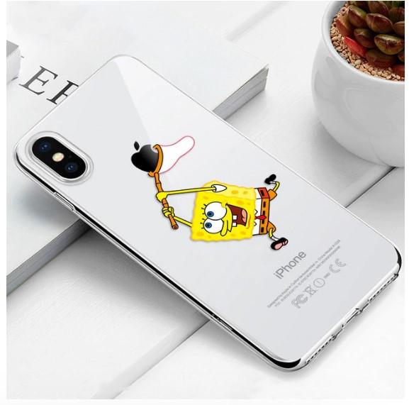"Чехол TPU прозрачный, мягкий с изображением ""Спанч Боб"" / ""SpongeBob SquarePants"" iPhone 6 Plus/6S Plus"