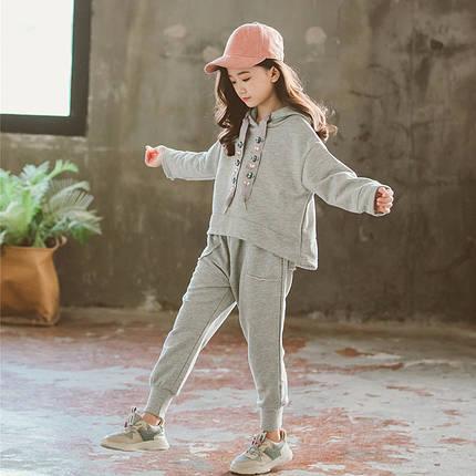 Детский серый костюм на девочку, фото 2