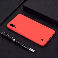 Чехол Soft Touch для Samsung Galaxy M10 2019 (M105) силикон бампер красный