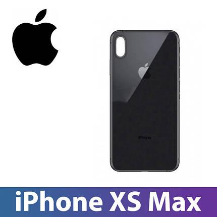 Задняя крышка iPhone XS Max черная, сменная панель, фото 2