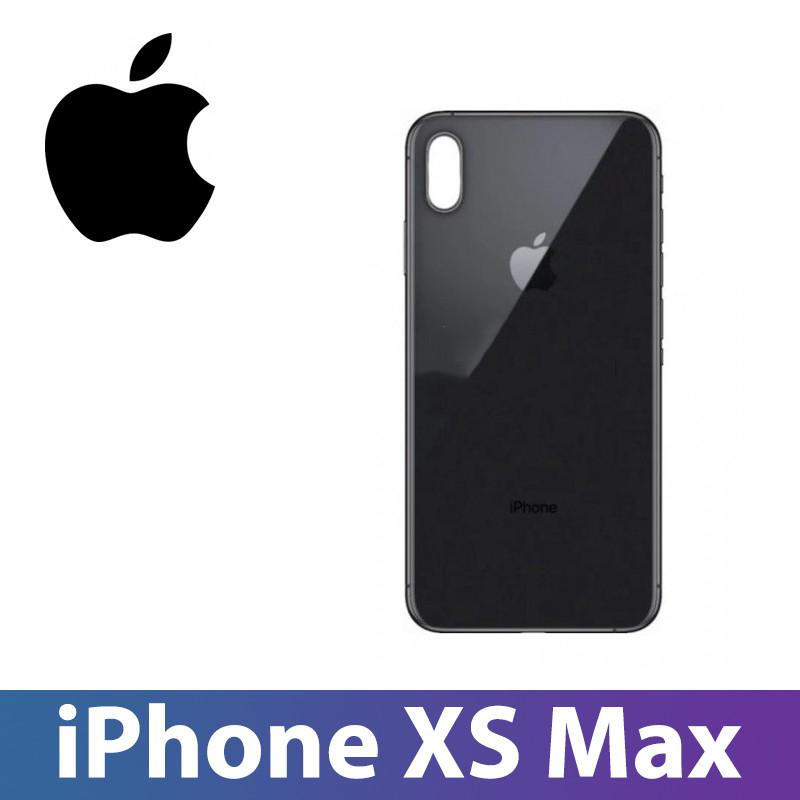 Задняя крышка iPhone XS Max черная, сменная панель