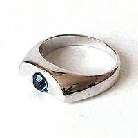 Кольцо Половинка. Родий