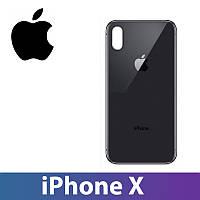 Задняя крышка iPhone X черная, сменная панель