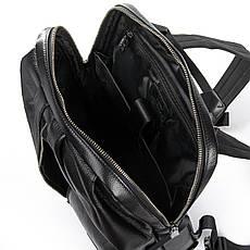 Рюкзак Міський шкіряний BRETTON BP 8003-67 чорна, фото 3