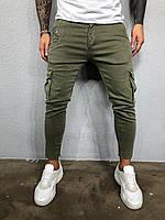 Джинсы мужские хаки / мужские джинсы карго /  весна осень / ЛЮКС КАЧЕСТВО мужские джинсы карго