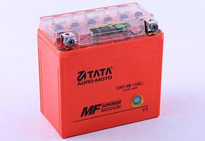 Аккумулятор 7Аh-12N7-4B OUTDO (гелевый, оранж. С ИНДИКАТОРОМ) 137*77*124mm - Мотоцикл