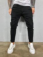 Джинсы мужские черные / мужские джинсы карго /  весна осень / ЛЮКС КАЧЕСТВО мужские джинсы карго