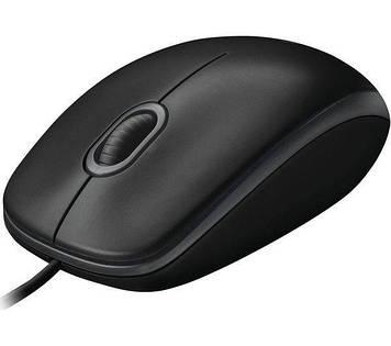 Миша Logitech B100 USB Black (910-003357)