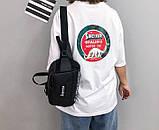 Бананка большая SUPREME суприм поясная сумка мужская женская 203/18 черная, фото 7