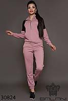 Крутой спортивный костюм женский кофта и брюки двухцветный фреза+черный, спортивные костюмы женские 2019