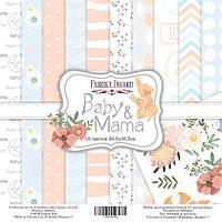 Набор бумаги для скрапбукинга Фабрика декору Baby & Mama, 30х30см, фото 1