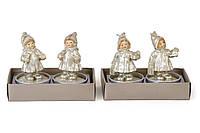 Набор новогодних свечей (2шт) Дети, 2 вида BonaDi Q00-243