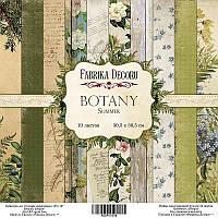 Набор бумаги для скрапбукинга Фабрика декору Botany summer, 30х30см, фото 1